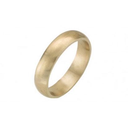 Men's 9ct Yellow Gold D Shape Wedding Ring