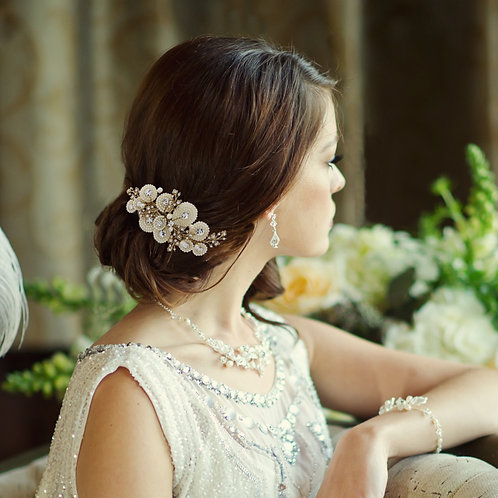 Bridal Hair Comb 'Amelia' from Sass Collection