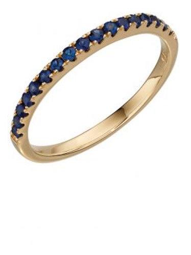 9ct Yellow Gold Sapphire Eternity Ring