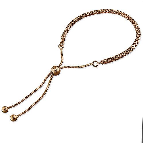 Rose Gold Vermeil Slider Bracelet
