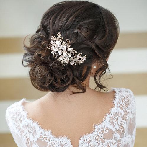 Bridal Hair Comb 'Athena Floral Exquisite'