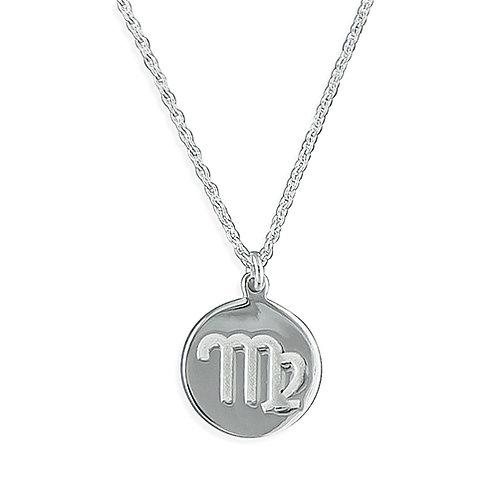 Virgo Zodiac Symbol Necklace