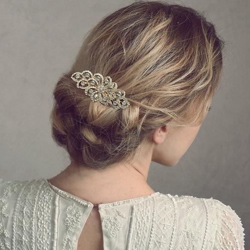Bridal Hair Comb 'Athena Crystal Swirl'
