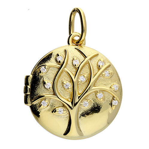 Gold Tree of Life Locket