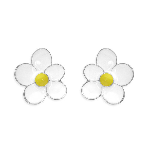 Childs Silver Daisy Stud Earrings