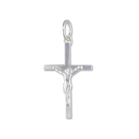 Silver Small Crucifix Pendant