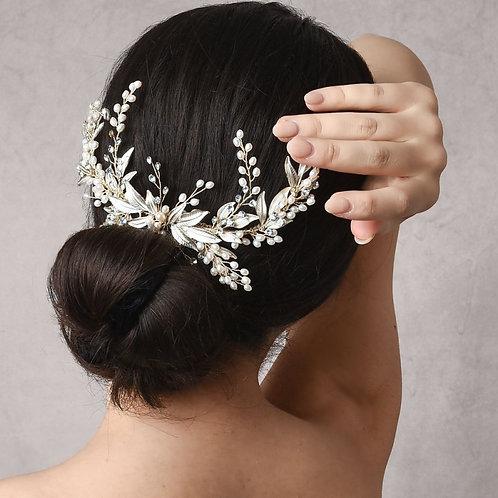 Bridal Hair Comb 'Athena Pearl Extravagance'