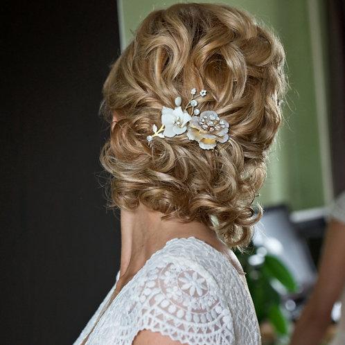 Bridal Hair Comb 'Athena Petite Blush'
