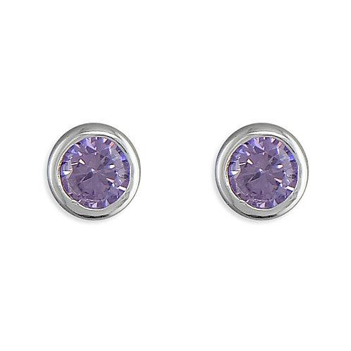 June Birthstone Alexandrite CZ Stud Earrings