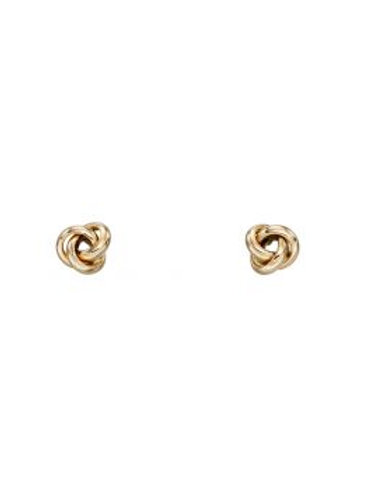 9ct Yellow Gold Triple Ring Knot Stud Earrings