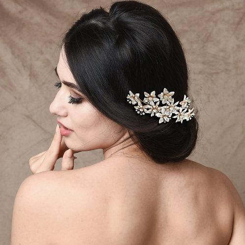 Bridal Hair Comb 'Athena Crystal Bejewelled'