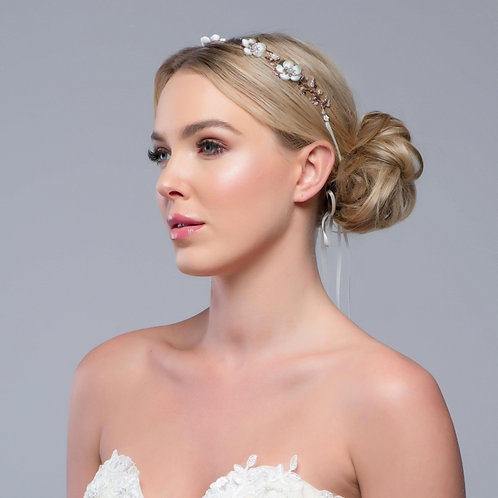 Bridal Hair Vine 'Floral Opulence' from The Sass B Collection