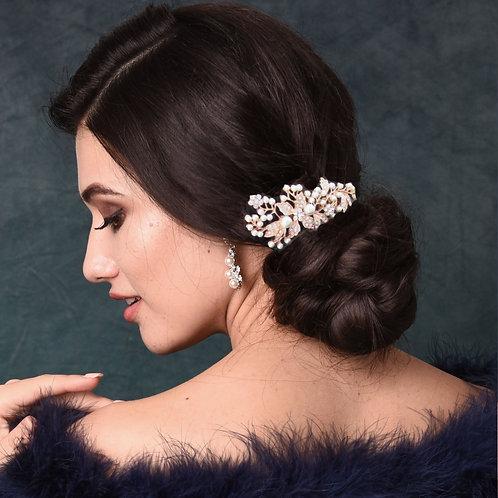 Bridal / Bridesmaid Hair Comb 'Athena Vintage Pearl'