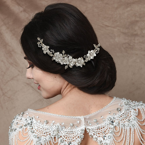 Bridal Hair Vine 'Floral Romance Exquisite' from The Athena Collection