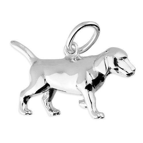 Sterling Silver Pendant Puppy dog