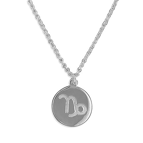 Capricorn Zodiac Symbol Necklace