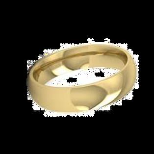 Men's 9ct Yellow Gold Court  Wedding Ring