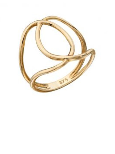 9ct Yellow Gold Interlocking Ring