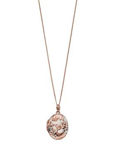 9ct Rose Gold Plated & Silver Locket