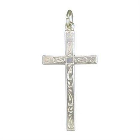 Silver Engraved Cross Pendant