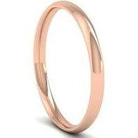 9ct Rose Gold D Shape 2-3mm Wedding Ring