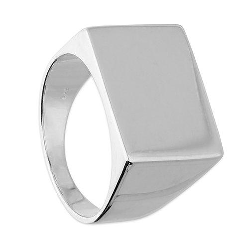 Silver Men's Oblong Signet Ring