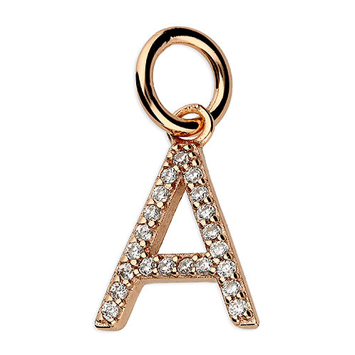 9ct Rose Gold Plated CZ Initial Pendant
