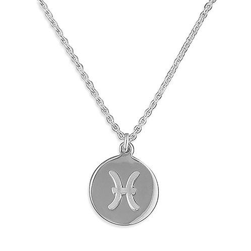 Pisces Zodiac Symbol Necklace