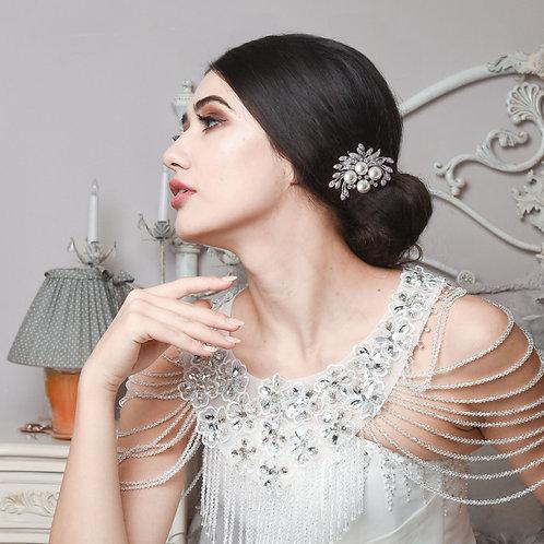 Bridal / Bridesmaids Hair Comb 'Athena Petite Pearl'
