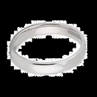 Ladies Silver Court Wedding Ring