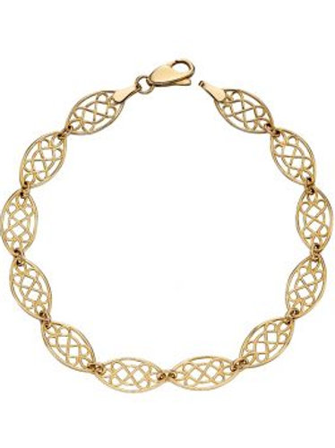 9ct Yellow Gold Open Filigree Bracelet