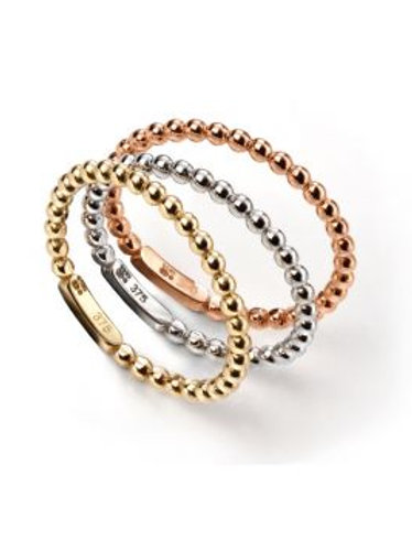 9ct Triclour Stacking Rings