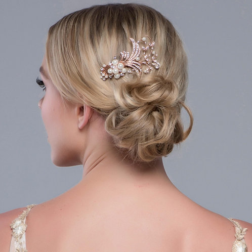 Bridal Hair Comb 'Vera Pearl' from The Sass B Collection