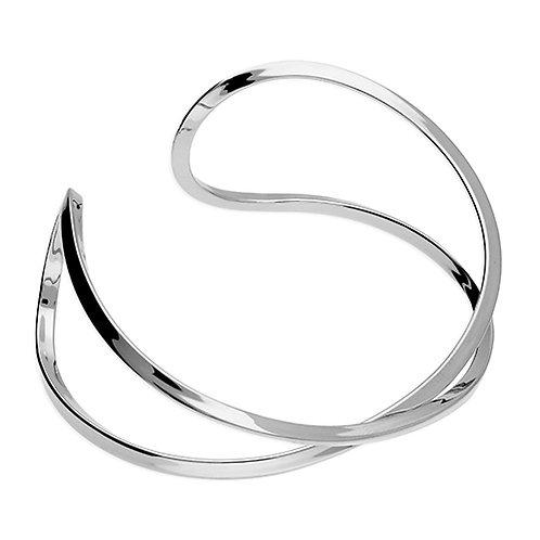 Silver Infinity Bangle