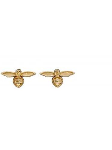 9ct Yellow Gold Tiny Bee Stud Earrings