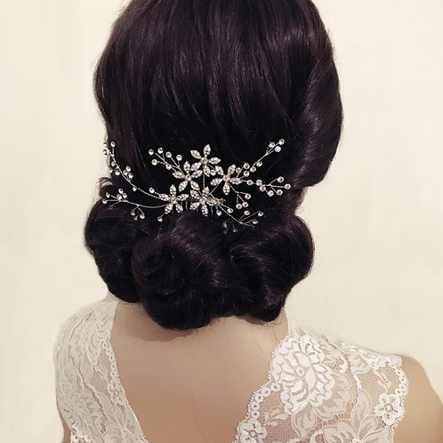 Bridal Hair Comb 'Athena Sparkly Crystal Extravagance'