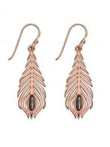 Rose Gold Vermeil Peacock Pearl Earrings