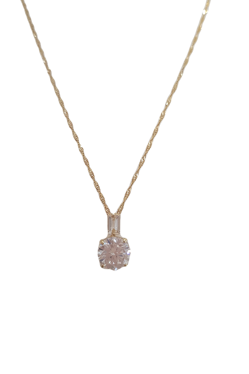 9ct Yellow Gold Cubic Zirconia CZ Necklace