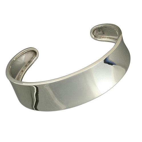 Sterling Silver Plain Torc Bangle