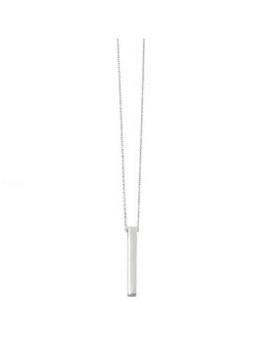 Silver Engravable Bar Necklace