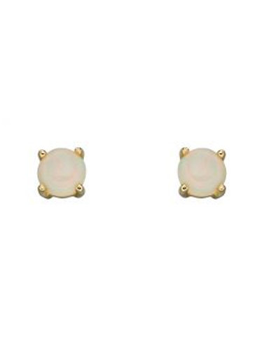 9ct Yellow Gold Opal October Birthstone Earrings