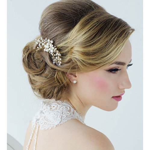 Bridal Hair Comb 'Nita Freshwater' from The Sass B Collection