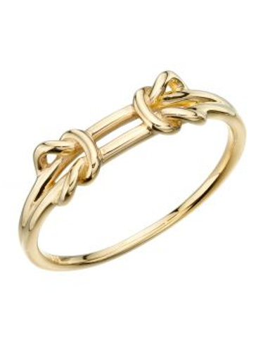 9ct Gold Double Knot Ring