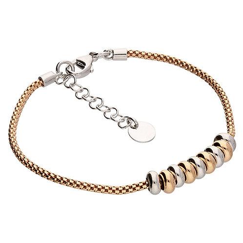 Rose Gold Vermeil Two Tone Bead Bracelet