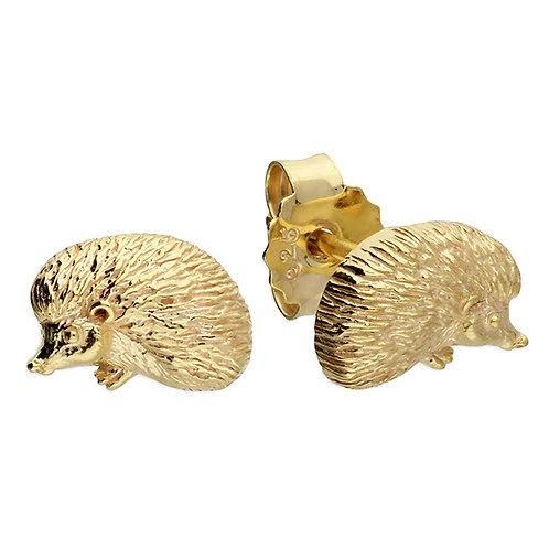 cute hedgehog stud earrings