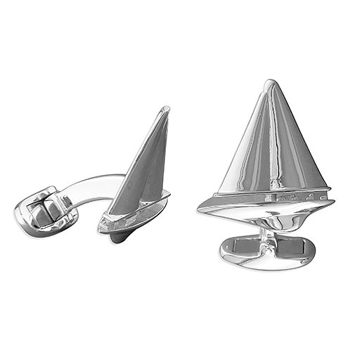 Sailboat Racing Yacht Cufflinks