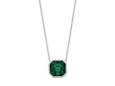 Emerald Swarovski Asscher Cut Necklace