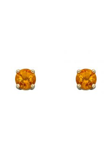 9ct Yellow Gold Citrine November Birthstone Stud Earrings