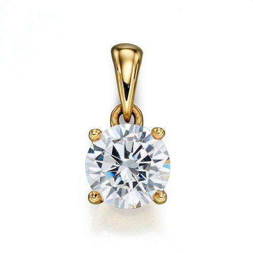 9ct Yellow Gold Cubic Zirconia April Birthstone Necklace
