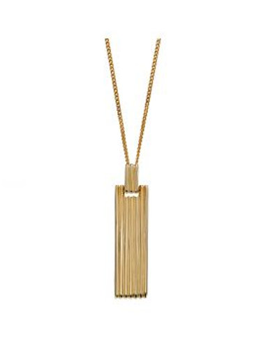 9ct Gold Bar Column Necklace